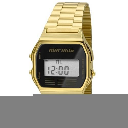 Relógio Mormaii Unissex Vintage Mojh02ab/4p Digital Dourado Dourado