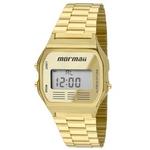 Relógio Mormaii Unissex Vintage Mojh02ab/4p Digital Dourado