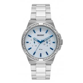 Relógio Orient Feminino Prata Pedras Fbssm037