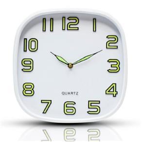 Relógio Parede 30Cm Quadrado Fluorescente