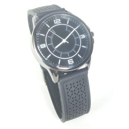 Relógio Preto Pulseira de Silicone