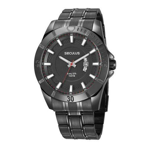 Tudo sobre 'Relógio Seculus Masculino Ref: 28960gpsvpa2 Esportivo Black'