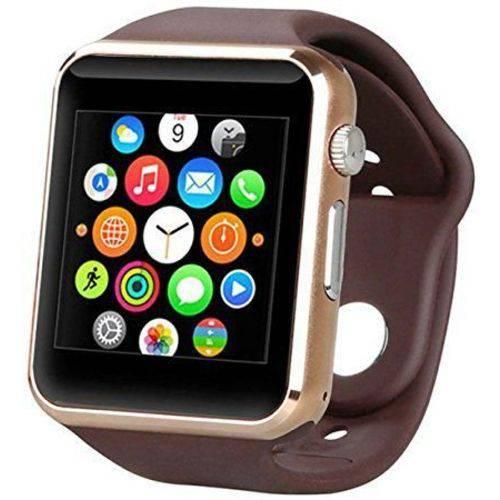 Tudo sobre 'Relogio Smartwatch A1 Marrom e Dourado'