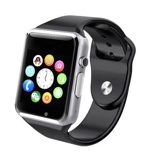 Tudo sobre 'Relógio Smartwatch A1 Preto com Prata'