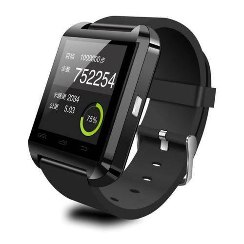 Tudo sobre 'Relogio Smartwatch U8 Touch Bluetooth Preto'