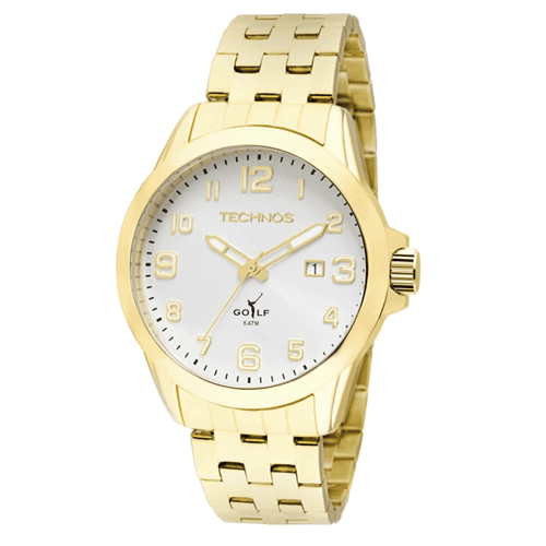 Relógio Technos 2115Kny/4K (Aço Inox, Dourado, Analógico)
