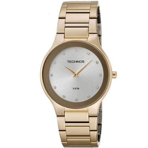 Relógio Technos 1L22En/4K (Aço Inox, Dourado, Analógico)