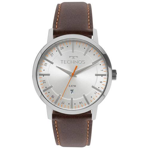 Relógio Technos Masculino Classic Steel com Pulseira de Couro 2115mmh/1b