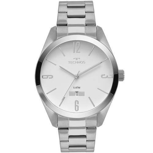 Relógio Technos Masculino Classic Steel Prata - 2115mnu/1b