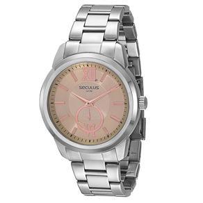 Relógio Unissex Analógico Seculus 20113G0STNA1 - Cromado