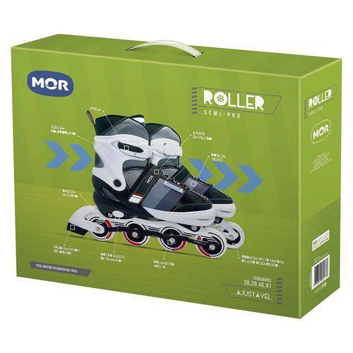 Tudo sobre 'Roller Semi-Pro Cinza Tamanho G 39-42'