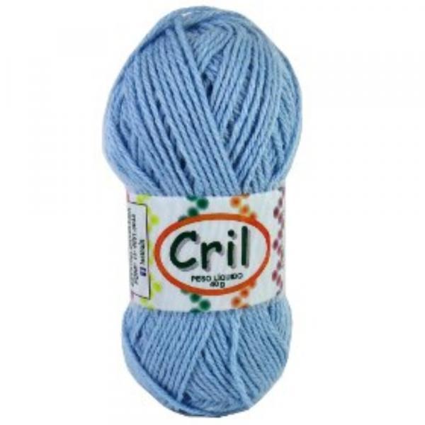 Rolo de Lã Cril 40g - Azul - Diversos