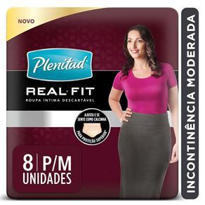 Roupa Íntima Descartável com Proteção para Incontinência Plenitud Active Fit Feminina P/M – 8 Unidades