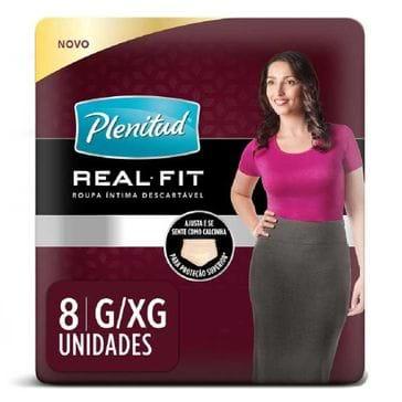 Roupa Íntima Plenitud Active Cotton Flex Fit Feminino com 8 Unidades