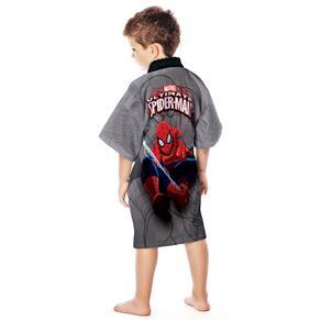 Roupão Infantil Lepper Spider Man Aveludado - Estampado - M