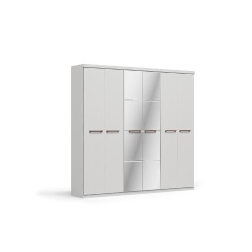 Roupeiro Kappesberg F786 6 Portas 4 Gavetas Branco