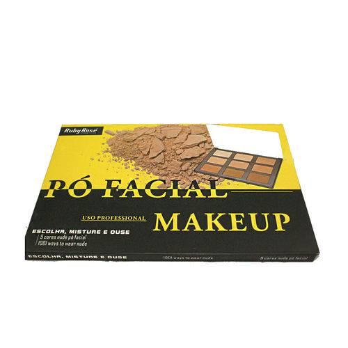 Tudo sobre 'Ruby Rose Paleta Pó Facial Makeup'