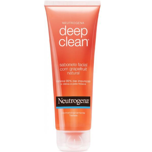 Sabonete Facial em Gel Neutrogena Deep Clean Grapefruit 80g