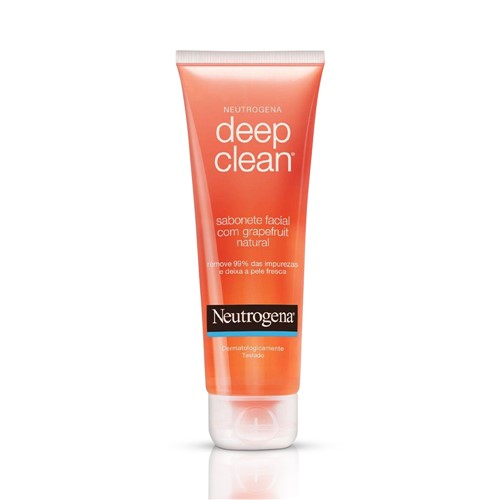 Sabonete Facial Neutrogena Deep Clean Grapefruit 80g