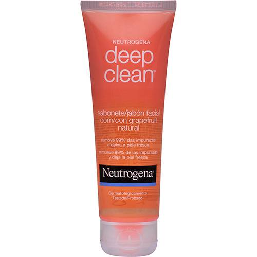 Sabonete Líquido Facial Neutrogena Deep Clean Grapefruit 80g
