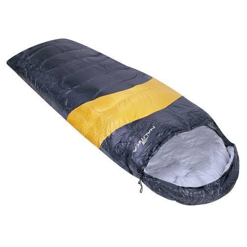 Saco de Dormir 2mx70cm Camping Viper 5ºc A12ºc Preto/laranja
