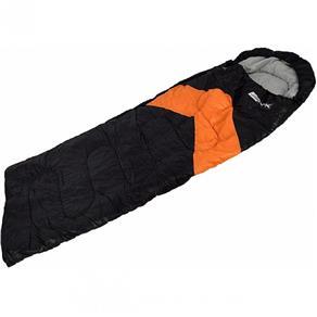 Saco de Dormir Nautika Tipo Envelope e Sarcófago Viper Preto e Laranja
