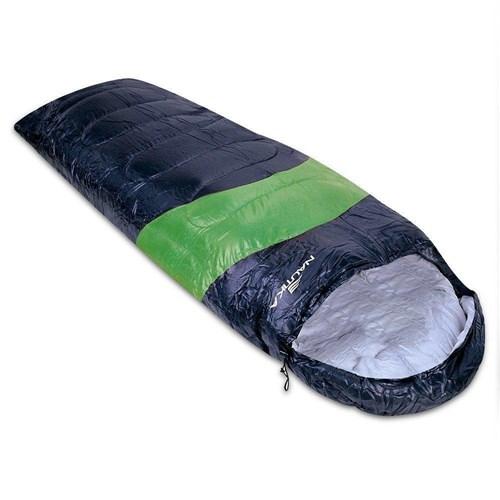 Saco de Dormir Nautika Viper 5º a 12º Preto e Verde 230100