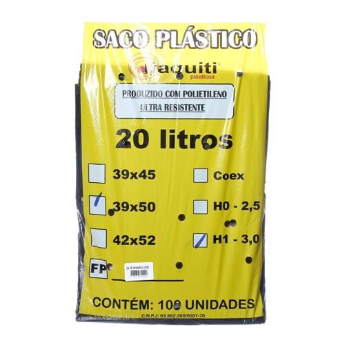 Tudo sobre 'Saco para Lixo com Capacidade de 20 Litros Preto com 100 Unidades Itaquiti'