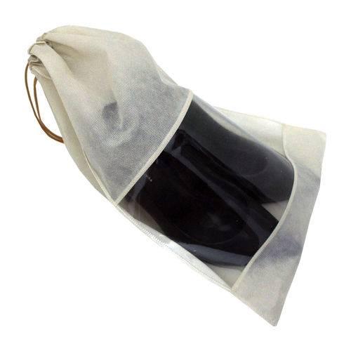 Tudo sobre 'Saco para Sapato Tnt com Visor de Pvc 38cm (A) X 28cm (L) Bege - 50 Peças'