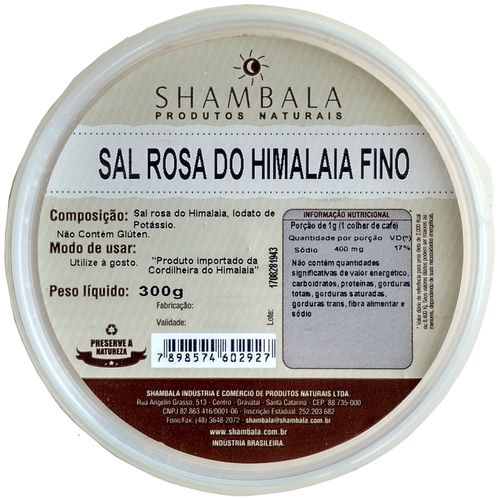 Sal Rosa do Himalaia Fino 300g