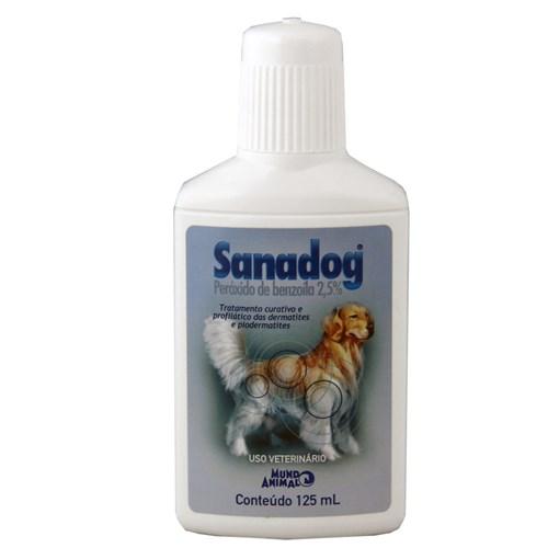 Sanadog Shampoo 125ml Mundo Animal Dermatológico Cães