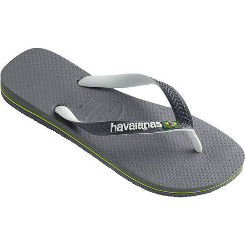 Sandalia Havaianas Brasil Cinza Aco 33/34