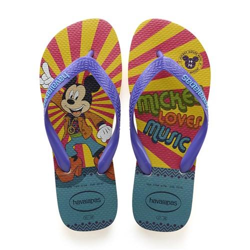 Sandálias Havaianas Mickey 90 Anos Amarelo