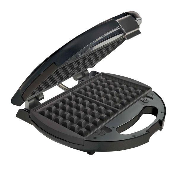 Sanduicheira e Máquina de Waffles Oster Preta 220V - 3892