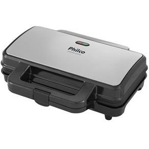 Sanduicheira Grill Inox PGR02I Placas Antiaderentes Philco - 110V