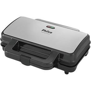 Sanduicheira Grill Philco Inox PGR02I Preta/Prata