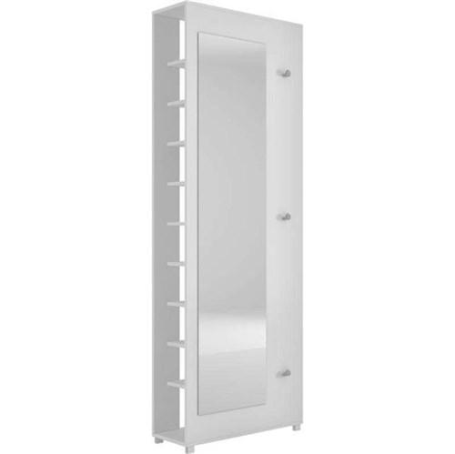 Sapateira com Espelho Bst 11 - Brv Móveis - Branco