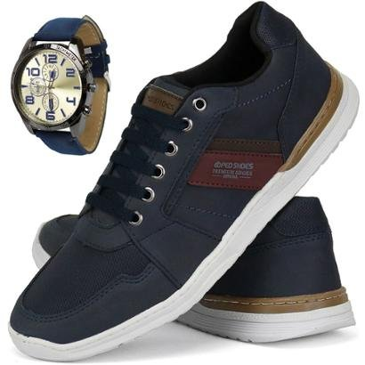 Sapatênis SapatoFran Casual + Relógio Masculino