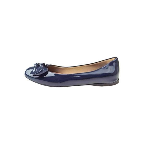 Sapatilha Verniz com Laço - Azul - Glamour Pink