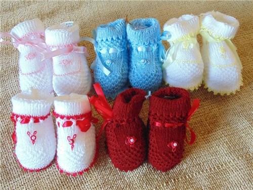 Sapatinhos de Lã Tricô Tam P