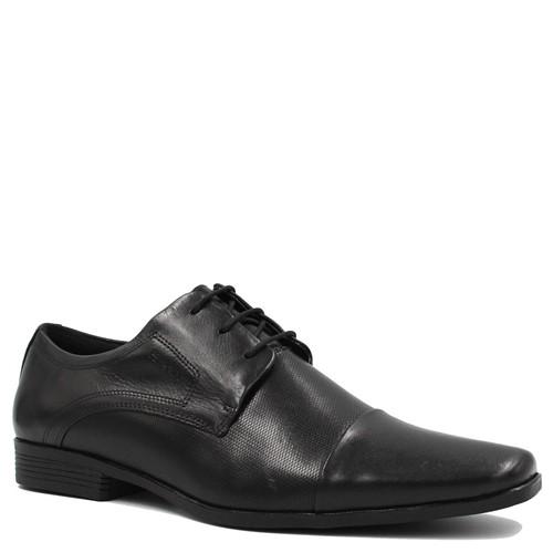 Sapato Ferracini Social Liverpool Cadarço em Couro Preto
