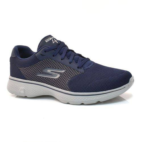 Sapato Go Walk 4 Marinho Skechers 54150 Xxm41