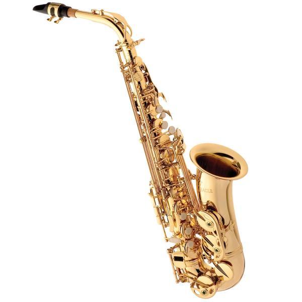Saxofone Alto em Mib Laqueado com Estojo Sa501 Eagle