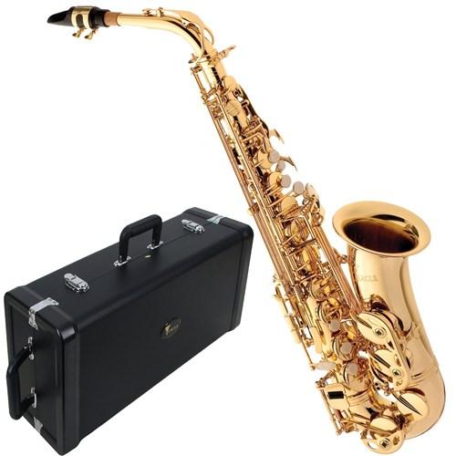Saxofone Alto Laqueado Sa501 Eagle em Mib com Case