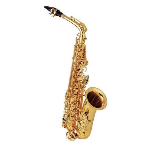 Saxofone Alto Mib Laqueado Dourado Halk Completo