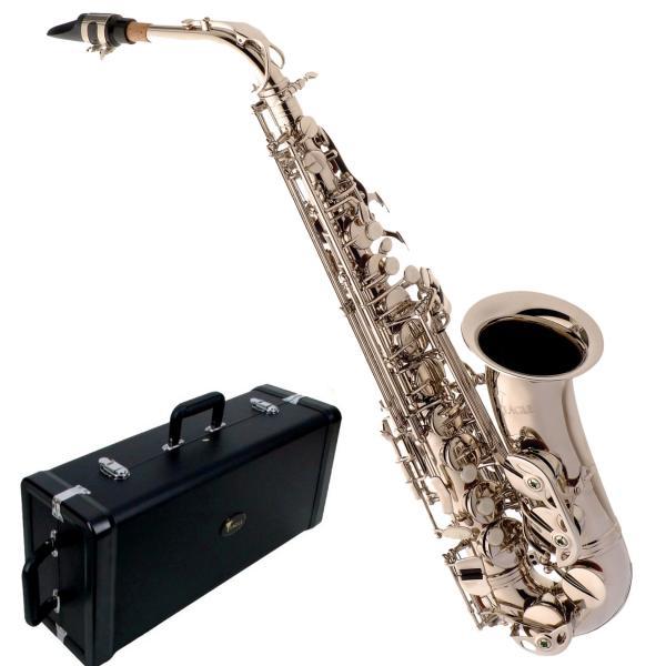 Saxofone Eagle Alto SA500 N em Mib Niquelado com Case