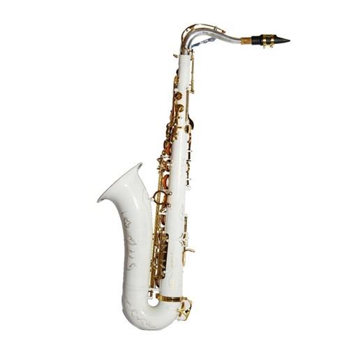 Saxofone Tenor Jahnke Si Bemol Edition 10 Anos Jahnke Jsth102 Branco