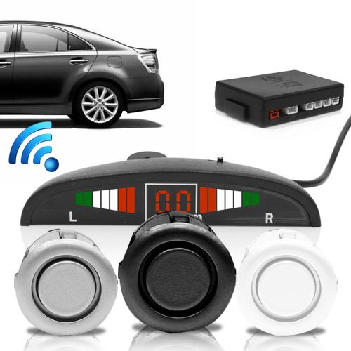 Tudo sobre 'Sensor de Estacionamento Wireless 4 Pontos Display Led Sinal Sonoro Preto'