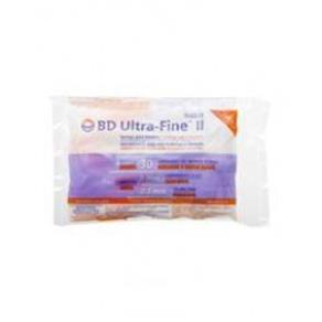 Seringa para Insulina Bd Ultra-Fine Ii 0,3 Ml 8X0,3Mm 10 Unidades
