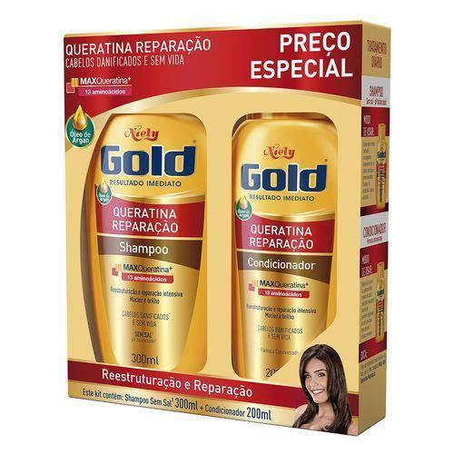 Tudo sobre 'Sh+Cond Niely Gold Rep Intensa Queratina'